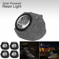 Waterproof Stone Shape LED Light Outdoor Garden Spot Lamp  Gray