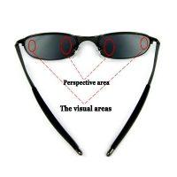 Spy Sunglass With Rear View - Black