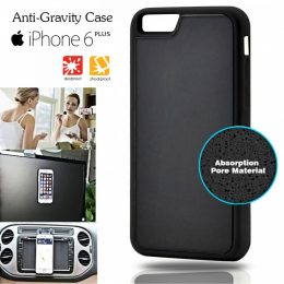Stick Anywhere Micro Suction Anti Gravity Case  For Iphone 6 Plus - Black