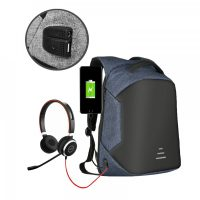 Sweet Tourist Anti Theft Backpack With Powerbank USB Output - Blue