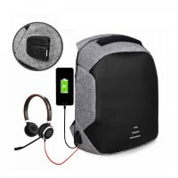 Sweet Tourist Anti Theft Backpack With Powerbank USB Output - Grey
