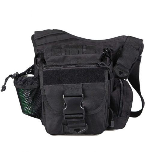 Tactical Multifunction Outdoor Shoulder Body Bag - Black