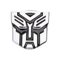 Transformer Autobots Solid Metal Steel Emblem - Silver