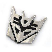 Transformer Decepticons Solid Metal Steel Emblem