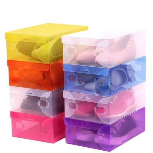 Transparent Shoe Box 28.5 x 10 x 18.5 cm - Purple