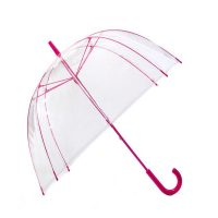 Transparent Dome Umbrella - Pink