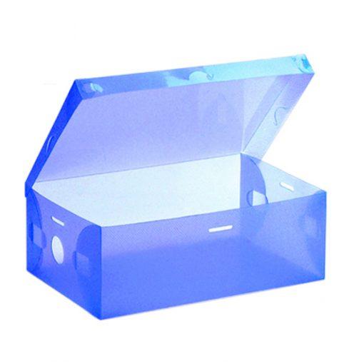 Transparent Shoe Box 28.5 x 10 x 18.5 cm - Blue