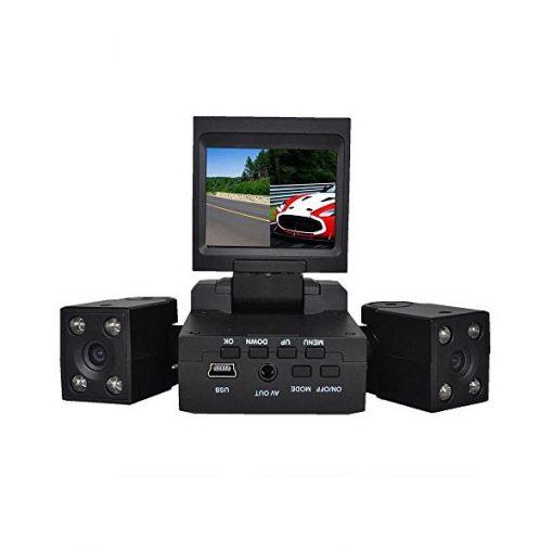 Two Camera Car DVR CCTV With IR