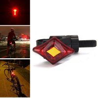 USB Rechargeable 3-Mode 2-LED Red Light Bicycle Tail Lamp