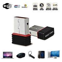 Wi-Fi Receiver 300Mbps USB 2.0 Mini Wi-Fi Network Adapter - Black