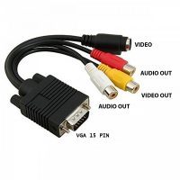 VGA To RCA and S Video Cable Converter