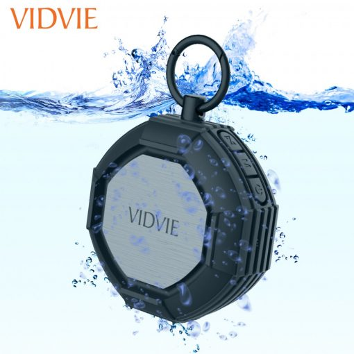Vidvie IPX7 Waterproof Wireless Bluetooth Speaker - Black