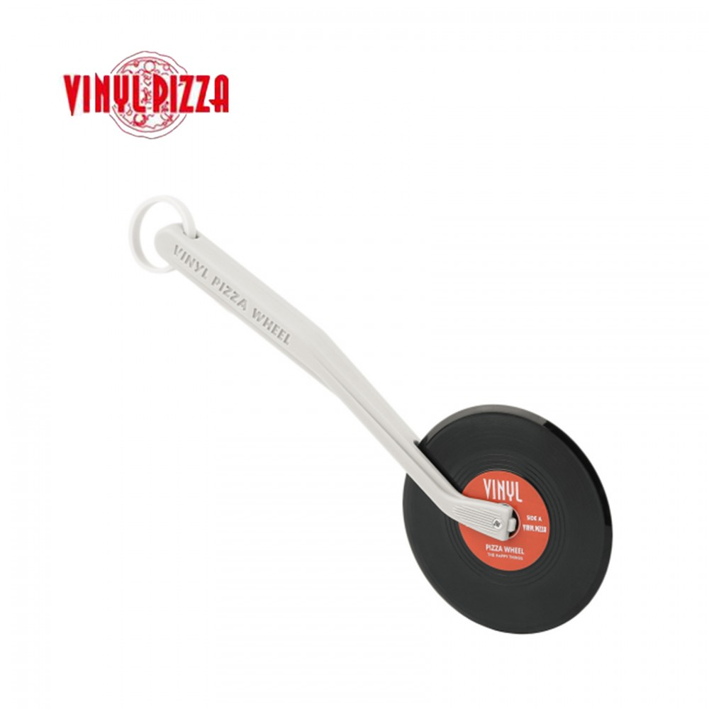 Vinyl Pizza Cutter Wheel With Silicone Handle Slice Record Player Pizza Cutter For Pizza Pies - Red