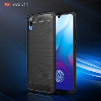 FOR SKU Vivo V11 Fashion Fiber Phone Case - Black