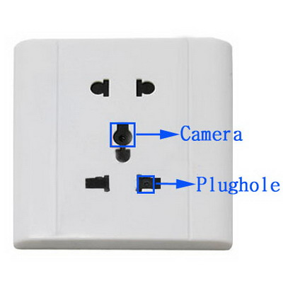 Voice Activated Spy Security Socket Pinhole Camera