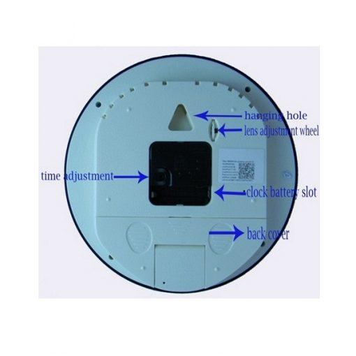 Wall Clock with Hidden P2P Wifi Camera