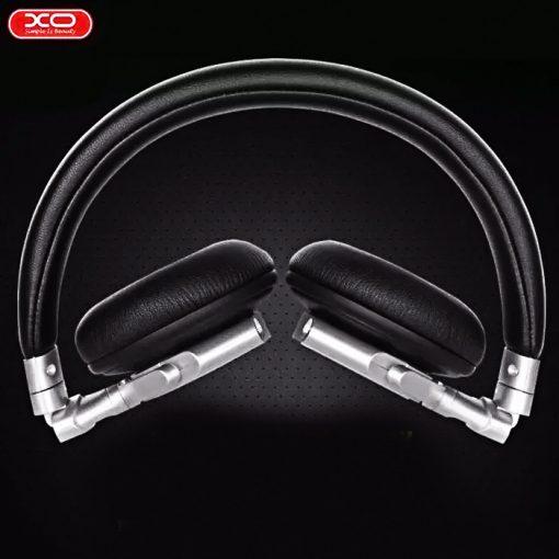 XO S15 Leather Finish Foldable Headphone - Black