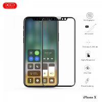 XO Premium Full Screen Tempered Glass Protector for iPhone X - Black