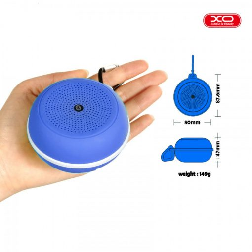 XO F1 Multifunction Bluetooth Speaker With Carabiner - Blue