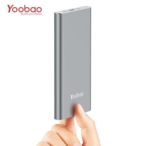 Yoobao 10000mah Slim Polymer Powerbank With Micro And Lighning Input Port - Gray