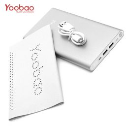 Yoobao 20,000mah Slim Polymer Powerbank With Micro And Lighning Input Port - Silver