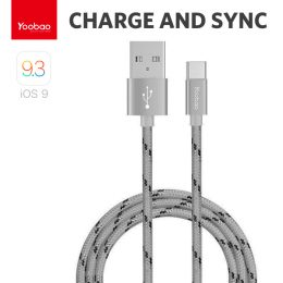 Yoobao 1 Meter Type-C Charging Sync Cable - Gray