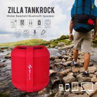 Zilla Tankrock Water Resistant Bluetooth Speaker - Red