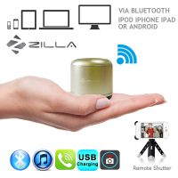 Zilla Metal Nano Bluetooth Speaker With Camera Shutter - Gold
