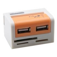 USB 2.0 COMBO 43 in 1 CARD READER - Orange