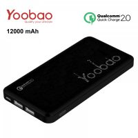 Yoobao PL12QC 12000 mah Lithium Polymer Powerbank with Qualcomm Quick Charge Port   - Black
