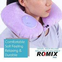 Romix RH50 Portable Fury Travel Neck Pillow - Purple