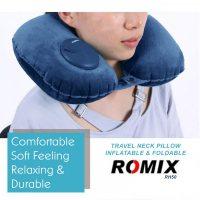 Romix RH50 Portable Travel Neck Pillow - Navy Blue