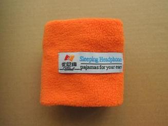 Sleeping Headband With Earphones - Orange