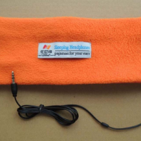 Sleeping Headband With Earphones - Orange