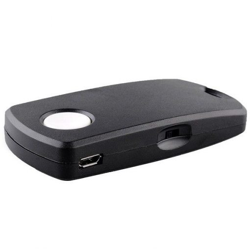 Universal Rechargeable Bluetooth Remote Control Camera Shutter for Iphone Ipad and Android - Black