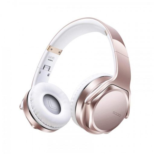 Sodo MH3 Bluetooth 2 IN 1 Headphone with Flip-out Speaker - Rose Gold