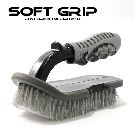 Soft Grip Brush for Car Tire And Tiles - Black