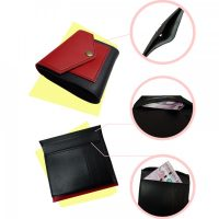 Short Foldable Pocket Wallet for Women - Red