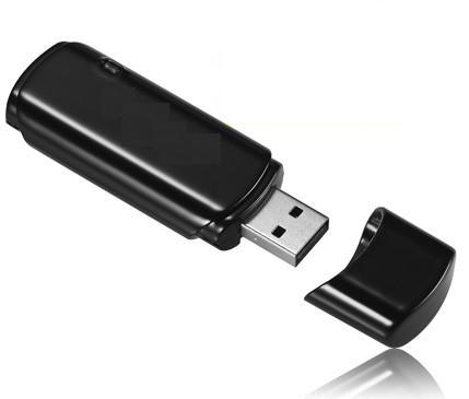 USB Stick With Hidden Spy Video Recorder - Black