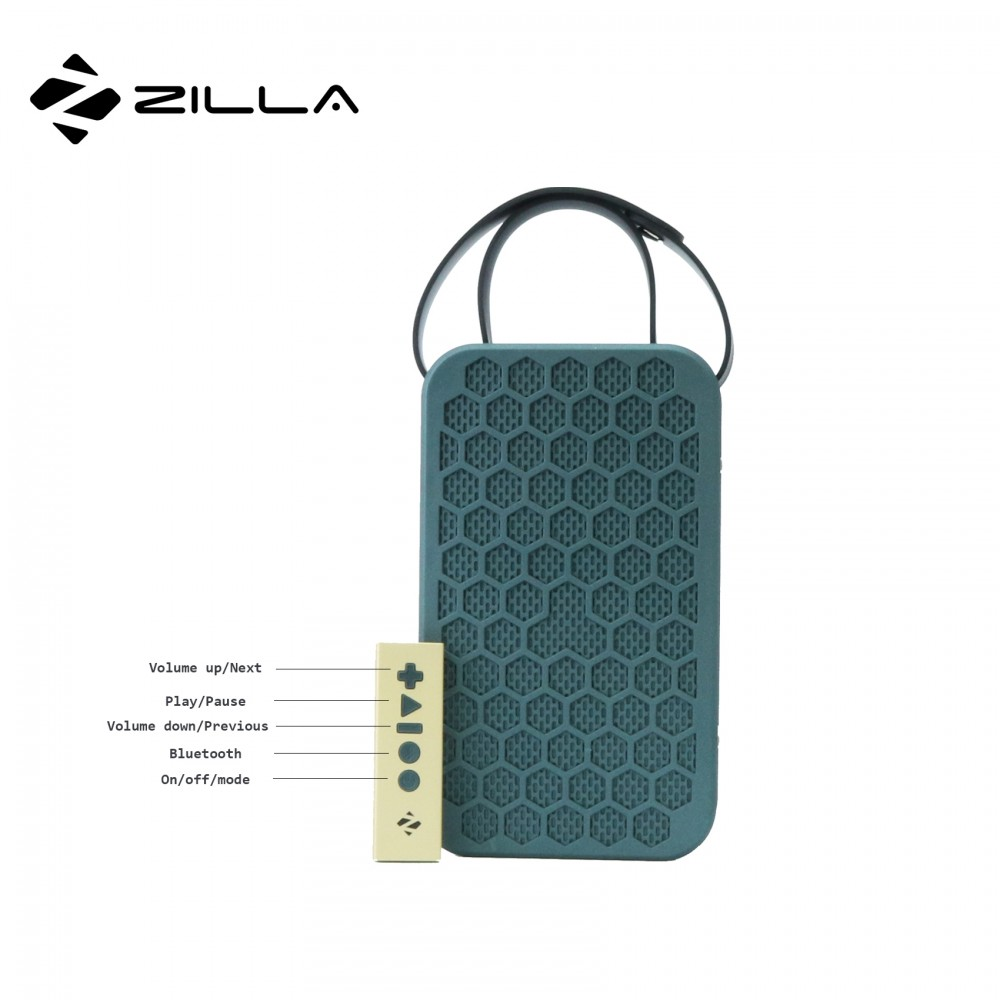 Zilla NFC Multifunction Bluetooth Speaker With Remote Control - Blue