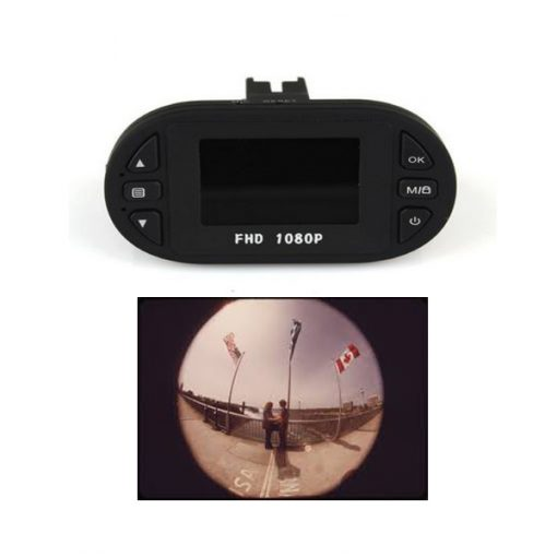"Mini 1.5"" Car Blackbox DVR With G-sensor And Cycle Recording - Black"