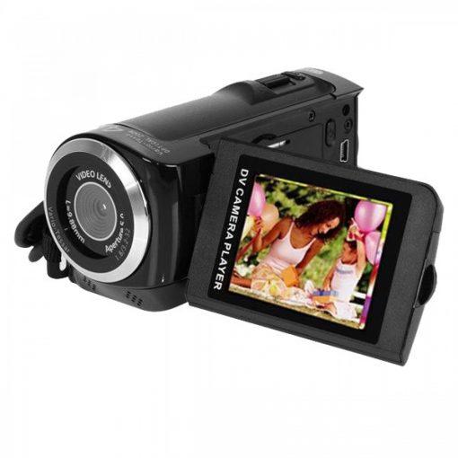 12MP HD Digital Video Camera Recorder - Black