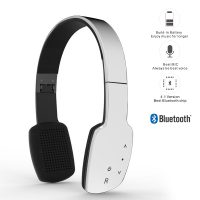 AEC Smart HiFi Wireless Bluetooth Headphone With Touch Sensitive Control Panel - White