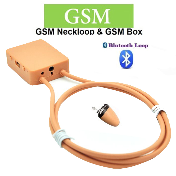 Bluetooth Wireless Earpiece Neckloop - Brown