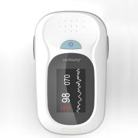 Finger Pulse Oximeter With Graphical Wave Information - Grey