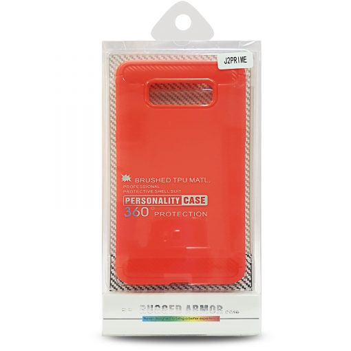 Rugged Armor Brushed TPU Case For Samsung J2 Prime - Red