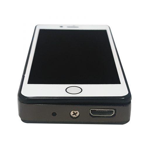 Mini iPhone USB Rechargeable Electronic Cigarette Lighter - Black/White