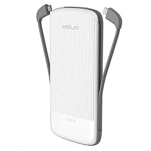 Onda M100S 10000mAh Quick Charge Powerbank Slim External Battery Pack With Micro USB / Lightning / Type-C Cable - White
