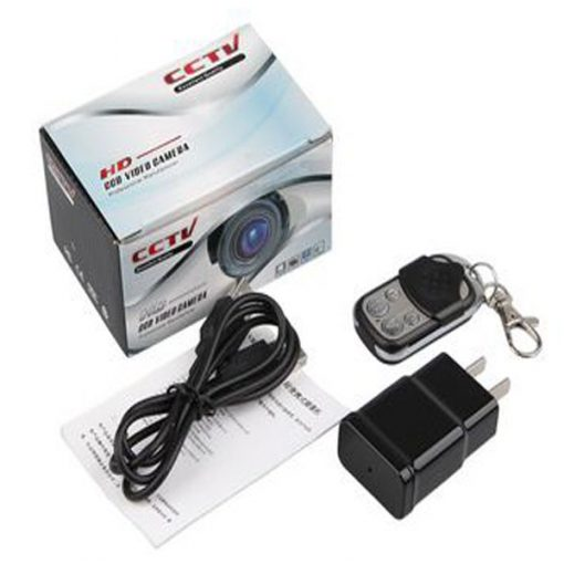 220v Outlet With HD Camera And Remote Control - Black