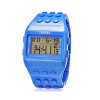 Shhors Minecraft and Digital Wrist Watch - Dark Blue